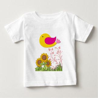 T-shirt Pour Bébé oiseau floral, art, conception, beau, nouvelle,