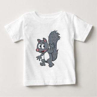 T-shirt Pour Bébé Ondulation grise d'écureuil de Rick   de garde