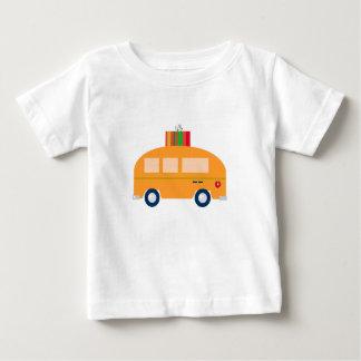 T-shirt Pour Bébé Or d'autobus de conception
