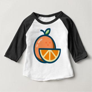 T-shirt Pour Bébé Orange coupée en tranches