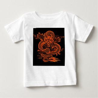 T-shirt Pour Bébé Orange épique de dragon
