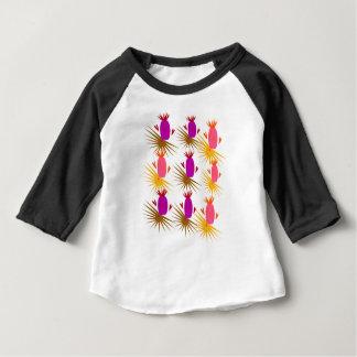 T-shirt Pour Bébé Orange exotique de rose d'ananases de conception