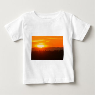 T-shirt Pour Bébé Orange orange Sun de ciel de Hollywood Los Angeles