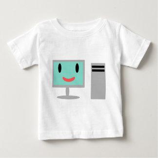 T-shirt Pour Bébé ordinateur de bande dessinée