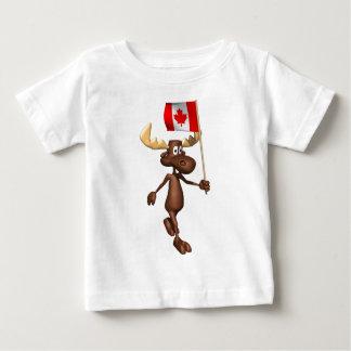 T-shirt Pour Bébé Orignaux Canada