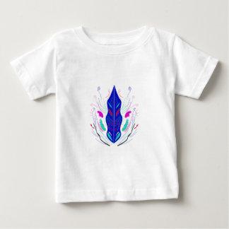 T-shirt Pour Bébé Ornements folkloriques bleus et blancs