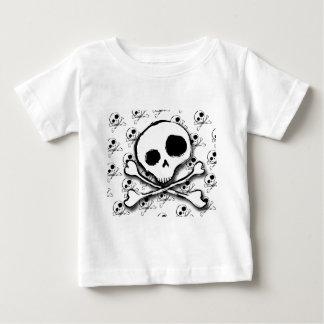 T-shirt Pour Bébé Os du crâne N avec le contexte