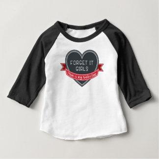 T-shirt Pour Bébé Oubliez que ce maman de filles est mon Valentine