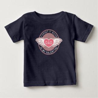T-shirt Pour Bébé Oubliez que ce papa de garçons est mon Valentine