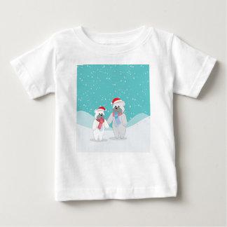 T-shirt Pour Bébé ours blanc B