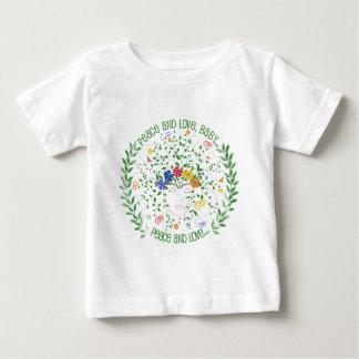 T-shirt Pour Bébé Paix et amour, bébé…