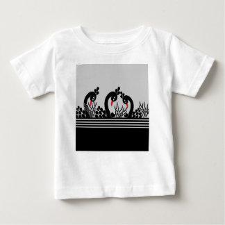 T-shirt Pour Bébé paon noir
