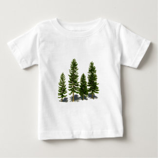 T-shirt Pour Bébé Parmi les plantes vertes