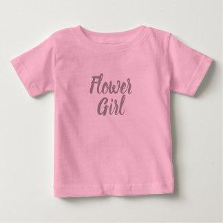 T-shirt Pour Bébé Partie nuptiale de demoiselle de honneur rose et