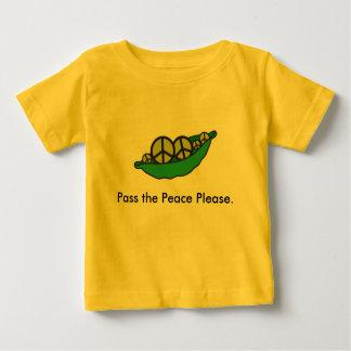 T-shirt Pour Bébé Passez le nourrisson de paix svp -