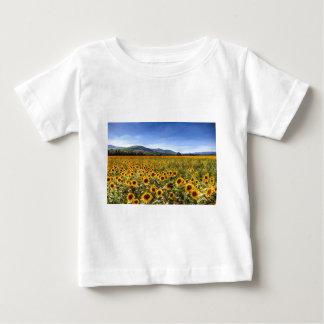 T-shirt Pour Bébé Paysage de tournesol d'été