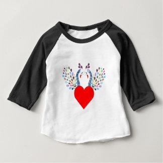 T-shirt Pour Bébé pecock d'amour
