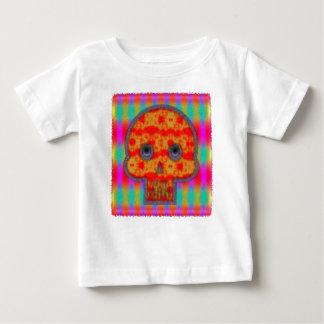 T-shirt Pour Bébé Peinture colorée de crâne de robot