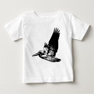 T-shirt Pour Bébé Pélican de vol