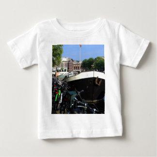 T-shirt Pour Bébé Péniche et bicyclettes, Amsterdam