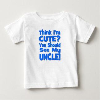 T-shirt Pour Bébé Pensez que je suis mignon ?  Vous devriez voir mon
