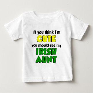 T-shirt Pour Bébé Pensez que je suis tante irlandaise mignonne