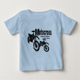 T-shirt Pour Bébé Père/fils de motocross