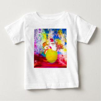 T-shirt Pour Bébé Père Noël et ses amis apprécient la saison