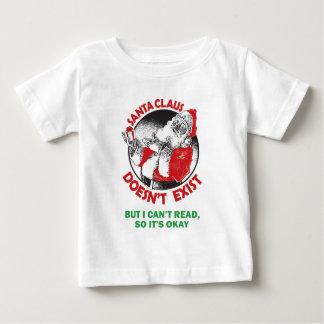 T-shirt Pour Bébé Père Noël ne fait pas Exister-Mais je ne peux pas