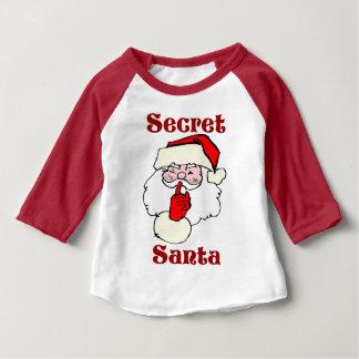 T-shirt Pour Bébé Père Noël secret sur Noël