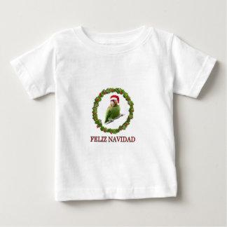 T-shirt Pour Bébé Perroquet Père Noël