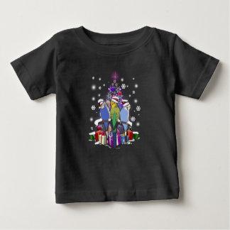 T-shirt Pour Bébé Perruches avec le cadeau et les flocons de neige