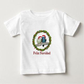 T-shirt Pour Bébé Perruches Père Noël de Lineolated