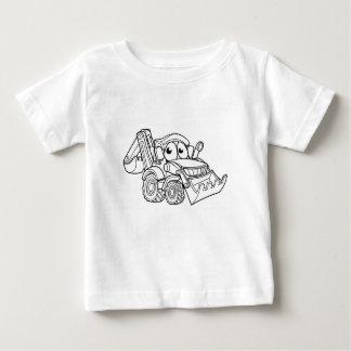 T-shirt Pour Bébé Personnage de dessin animé de bêcheur de bouteur
