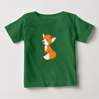 T-shirt Pour Bébé Petit Fox somnolent