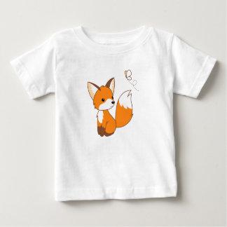 T-shirt Pour Bébé Petit papillon de observation mignon de Fox