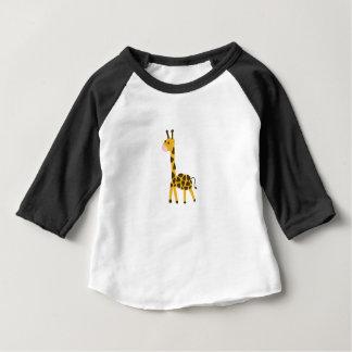 T-shirt Pour Bébé Petite conception jaune mignonne de girafe