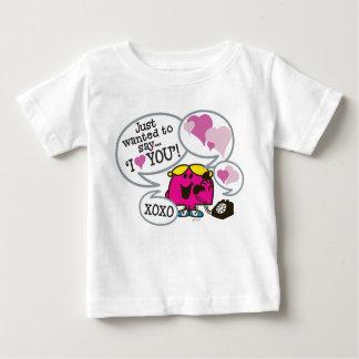 T-shirt Pour Bébé Petite Mlle Chatterbox | Valentine