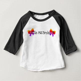 T-shirt Pour Bébé Peu de Ms.Broke il pièce en t de base-ball
