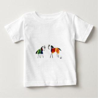 T-shirt Pour Bébé Peu de poneys d'arc-en-ciel