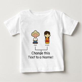 T-shirt Pour Bébé Pièce en t américaine/chinoise de famille de bébé