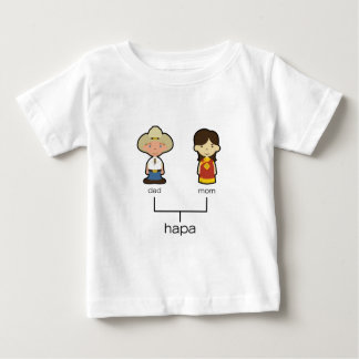 T-shirt Pour Bébé Pièce en t américaine/de Chinois Hapa de bébé de