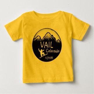 T-shirt Pour Bébé Pièce en t d'art de surf des neiges de jaune de