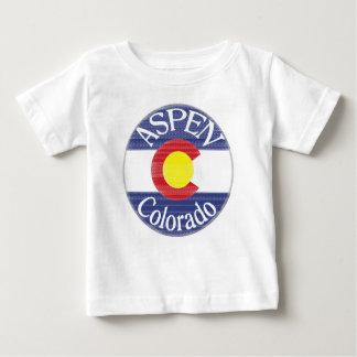 T-shirt Pour Bébé Pièce en t de bébé de drapeau de cercle d'Aspen le