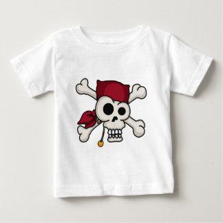 T-shirt Pour Bébé Pièce en t de bébé d'os croisés du crâne N