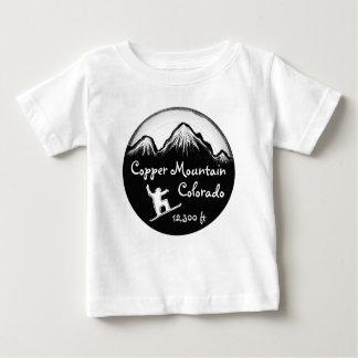 T-shirt Pour Bébé Pièce en t de cuivre de surf des neiges de bébé du