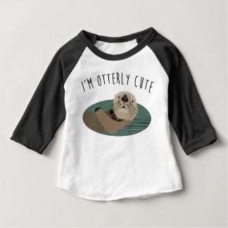 T-shirt Pour Bébé Pièce en t mignonne de bébé de loutre