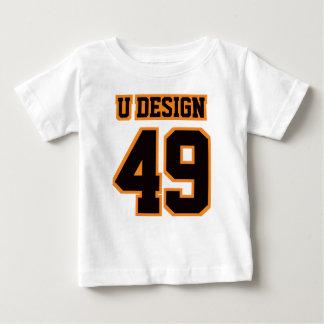T-shirt Pour Bébé Pièce en t ORANGE NOIRE BLANCHE avant de Crewneck