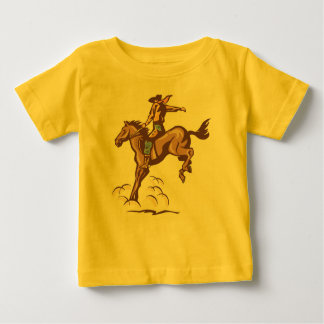 T-shirt Pour Bébé Pièce en t s'opposante de bébé de cowboy de cheval