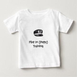 T-shirt Pour Bébé Pilote dans (la folle) formation